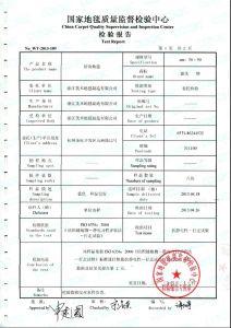 拼块千亿体育官方网站质量检验报告2(抗静电)