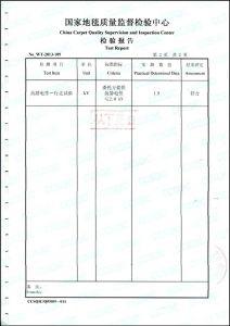 拼块千亿体育官方网站质量检验报告3(抗静电)
